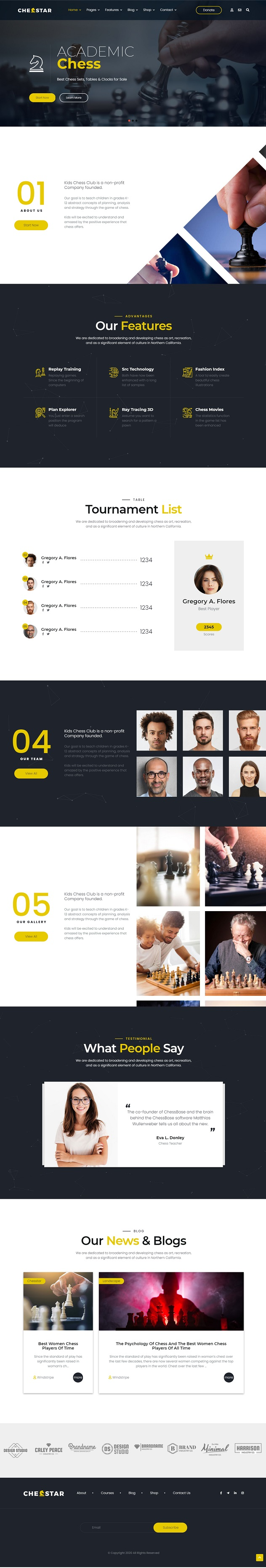 Chesstar - Chess Club and Personal Trainer Joomla Template - 1